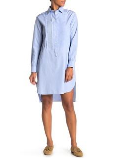 Burberry Pintuck Pleat Shirt Dress