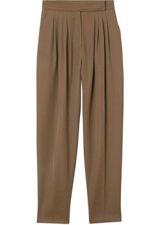 Burberry Pleat Detail Wool Twill Tailored Trousers