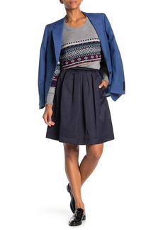 Burberry Pleated Fit & Flare Skirt