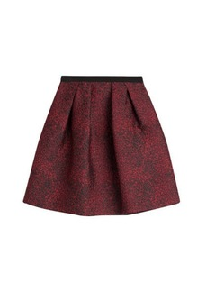 Burberry Pleated Jacquard Skirt