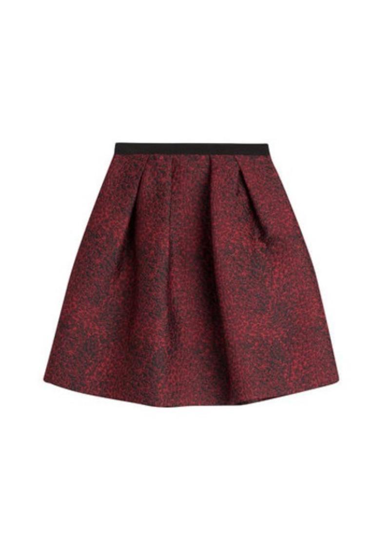 Burberry Pleated Jacquard Skirt