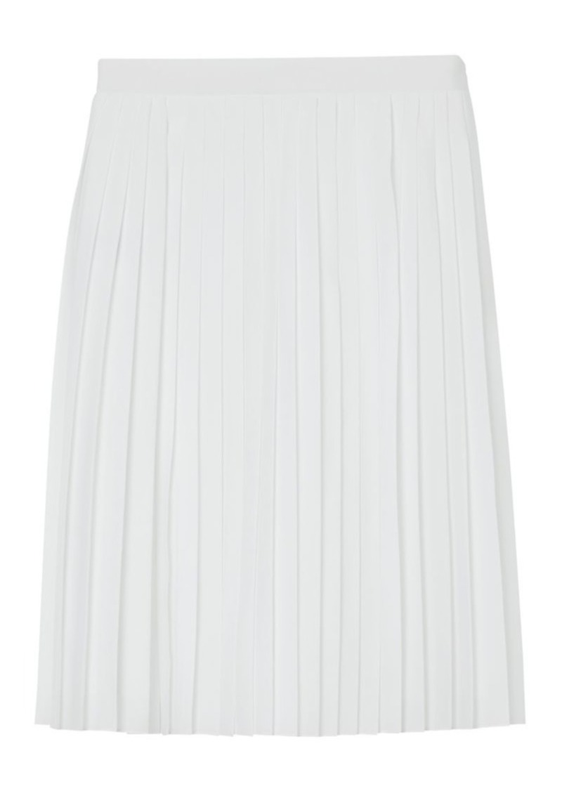 Burberry Pleated Silk Skirt