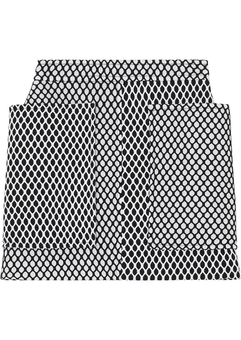 Burberry Pocket Detail Mesh and Neoprene Mini Skirt
