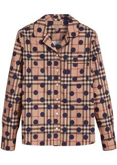 Burberry polka-dot check pyjama-style shirt