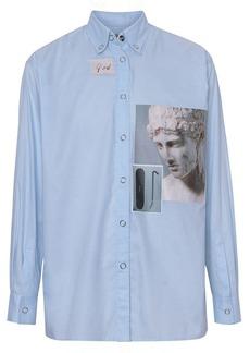 Burberry press-stud collar montage print shirt