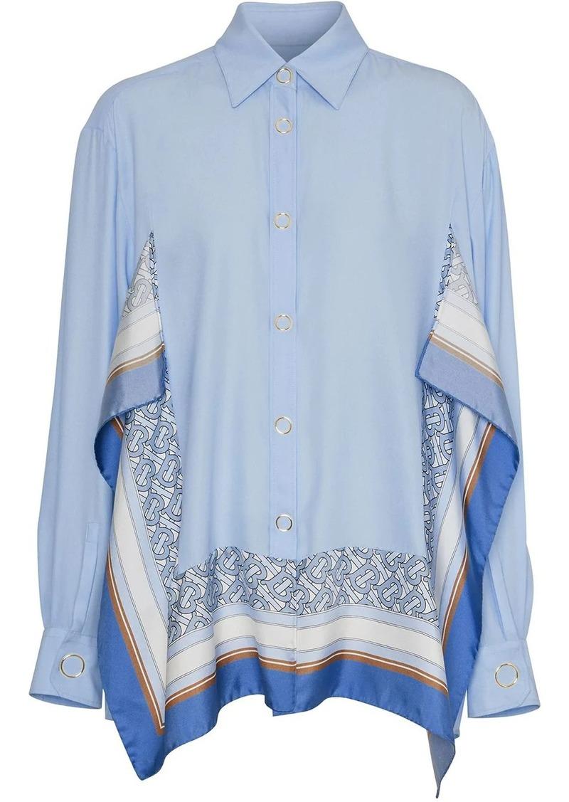 Burberry print-trim shirt