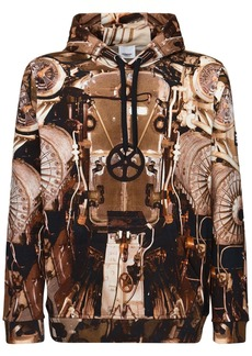 Burberry Printed Cotton Jersey Hoodie