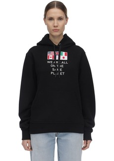 Burberry Printed Cotton Jersey Sweatshirt Hoodie