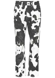 Burberry Printed high-rise straight-leg jeans
