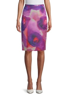 Burberry Printed Knee-Length Skirt