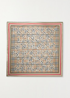 Burberry Printed Mulberry Silk-twill Scarf
