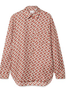 Burberry Printed Silk-satin Twill Shirt