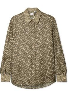 Burberry Printed Silk-satin Twill Shirt