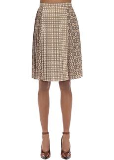 Burberry Printed Techno Twill Midi Skirt