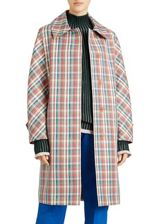 Burberry Quendon Check Button-Front Coat