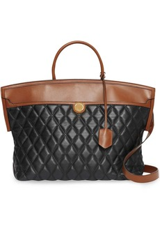 Burberry Quilted Lambskin Society Top Handle Bag