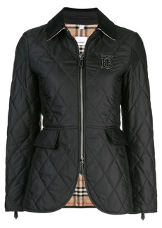 Burberry quilted logo plaque jacket