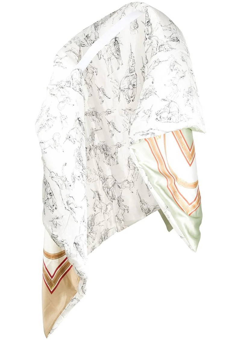 Burberry quilted oversized scarf