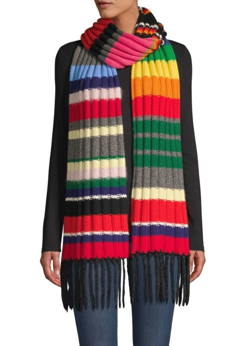 Burberry Rainbow Rib-Knit Scarf