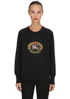 Burberry Ravi Embroidery Cotton Jersey Sweatshirt