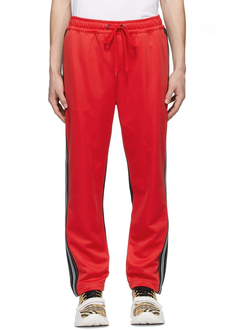 Burberry Red & Black Enton Track Pants