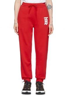 Burberry Red Gresham Lounge Pants
