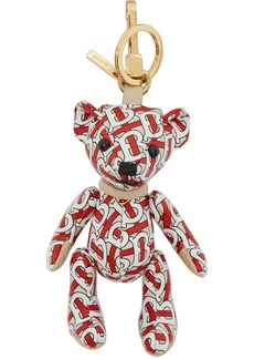 Burberry Red Leather Monogram Thomas Keychain