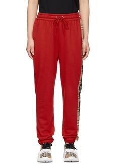 Burberry Red Raine Lounge Pants