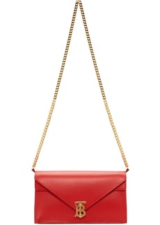 Burberry Red Small TB Envelope Bag