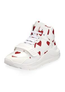 Burberry Regis Heart High-Top Sneakers