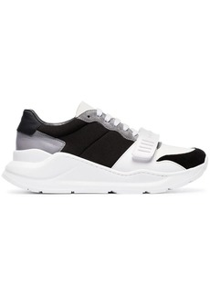 Burberry Regis leather strap detail sneakers