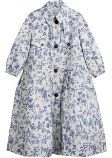 Burberry Reissued 2005 Floral Print Linen Dress Coat