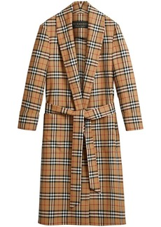 Burberry Reissued vintage check dressing gown coat