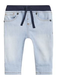 Burberry Relaxed Denim Jeans w/ Check Cuffs  Size 6M-2