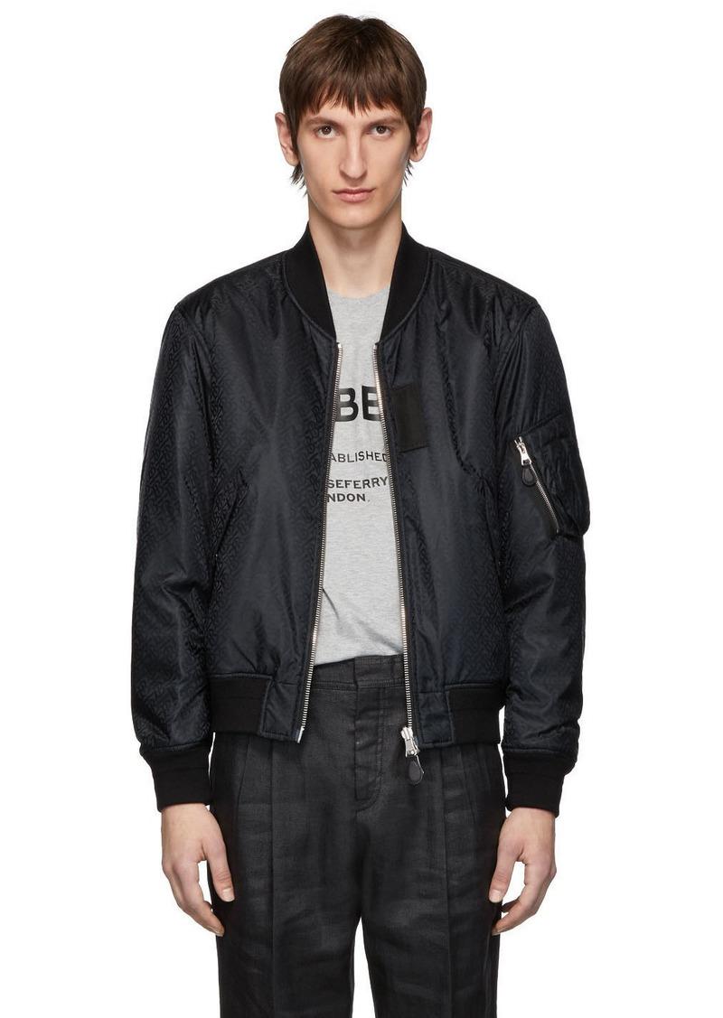 Burberry Reversible Black Monogram Norwich Bomber Jacket