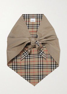 Burberry Reversible Checked Cotton Scarf