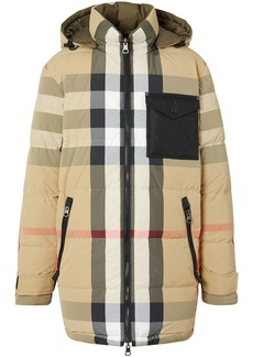 Burberry reversible checked puffer jacket
