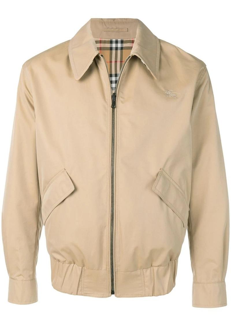 Burberry Reversible Gabardine and Check Harrington Jacket