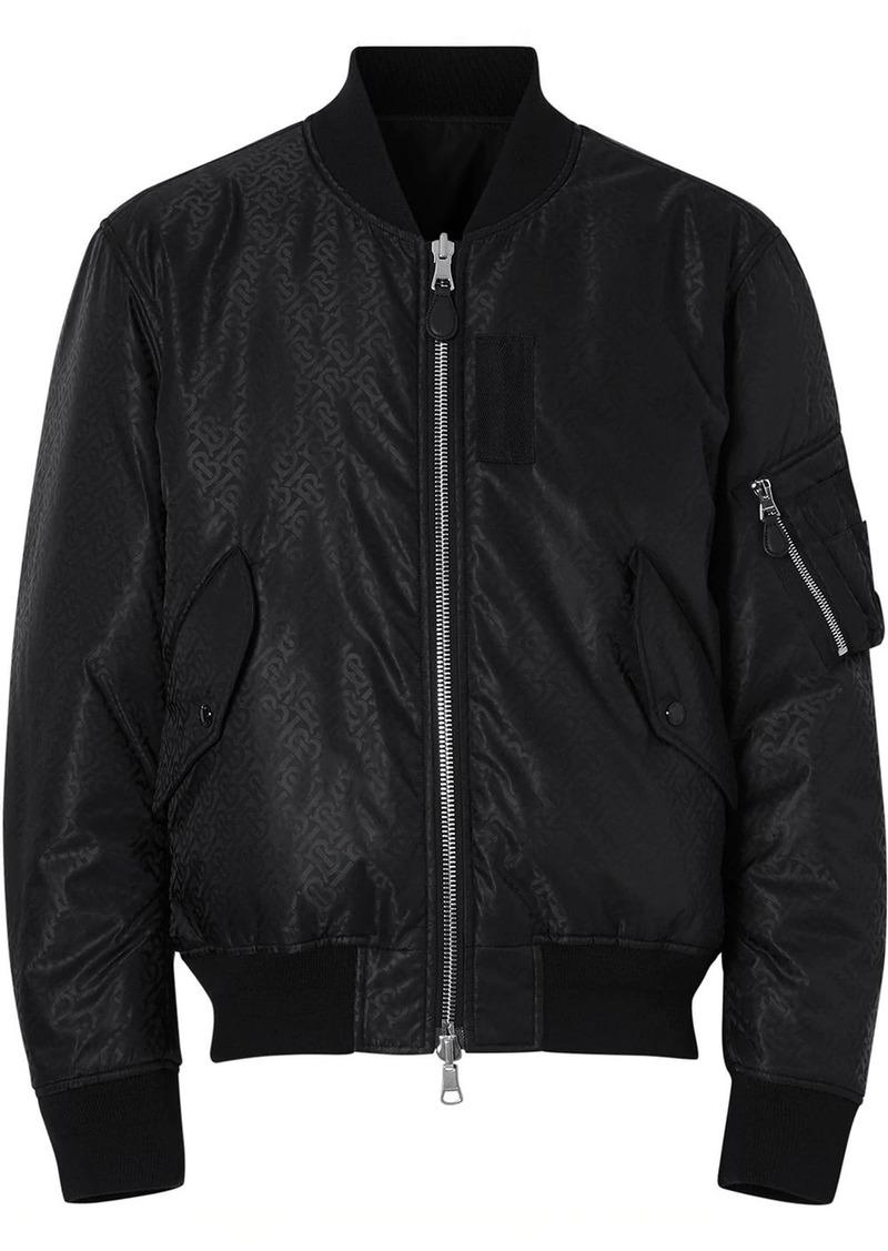 Burberry Reversible Monogram ECONYL® Jacquard Bomber Jacket
