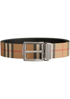 0741428f9402 Burberry Burberry Two-tone Trench Leather Belt - Black