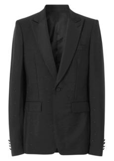 Burberry Rhinestone Mohair & Wool Tuxedo Jacket