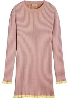 Burberry Rib Knit Cashmere Silk Sweater