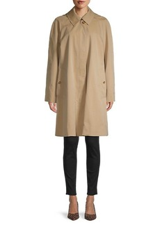 Burberry Richmond Cotton Gabardine Short Car Coat