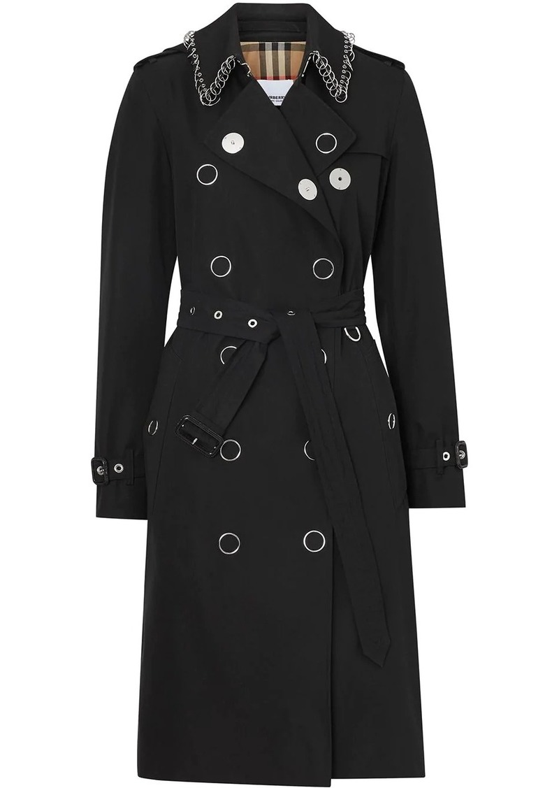 Burberry Ring-pierced Cotton Gabardine Trench Coat