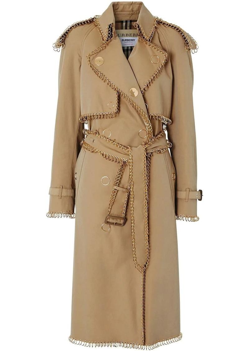 Burberry ring pierced Gabardine trench coat