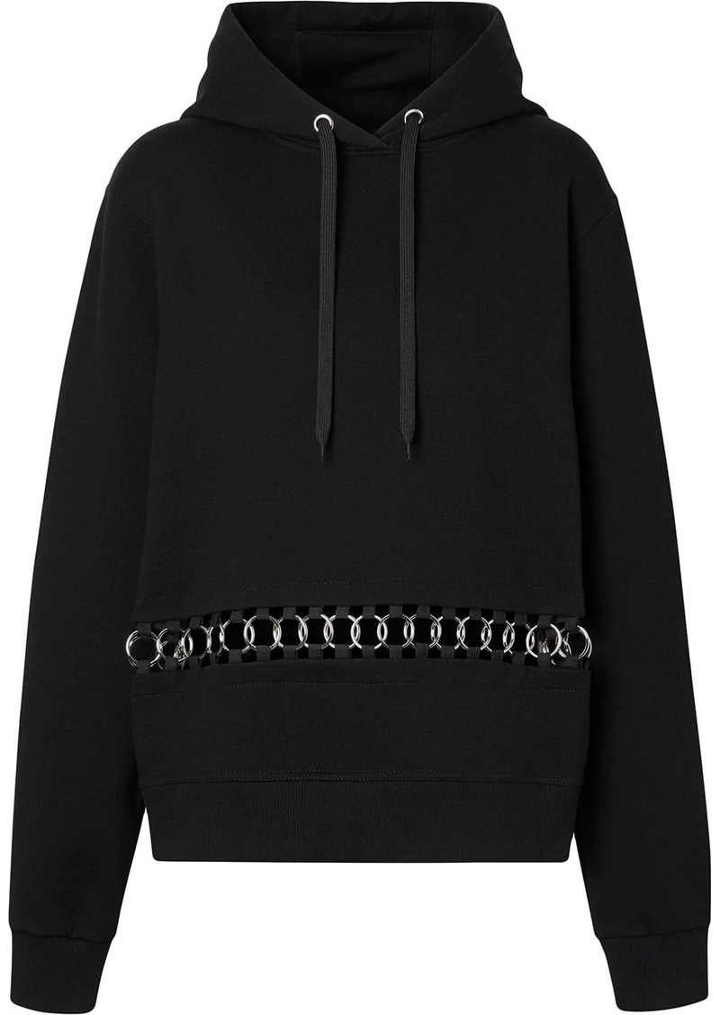 Burberry ring-pierced oversized hoodie
