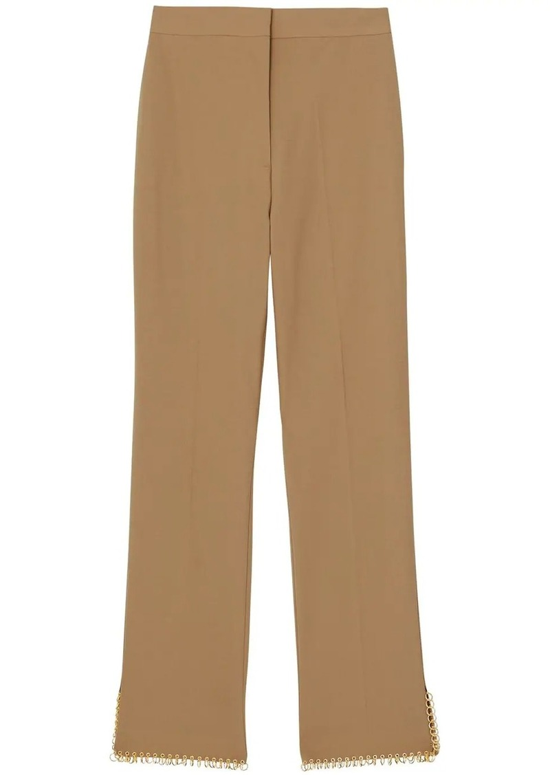 Burberry ring pierced tailored trousers