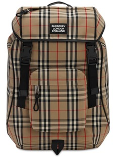 Burberry Rocky Check Canvas Backpack