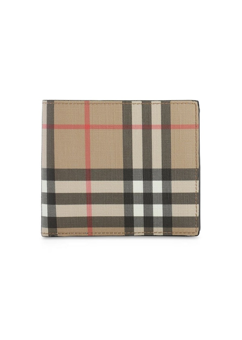 Burberry Ronan Coated Check Billfold Coin Wallet