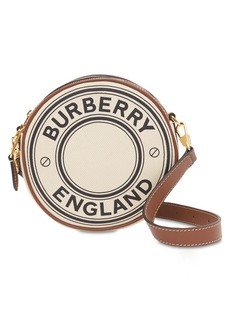 Burberry Roseberry Logo Print Round Canvas Bag